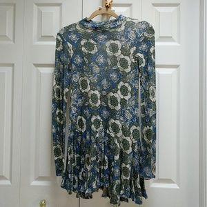 Free people long-sleeved high-neck mini dress